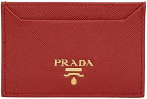 Prada Red Logo Cardholder