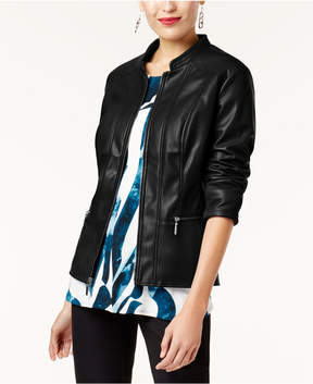 Alfani Faux-Leather Jacket, Created for Macy's