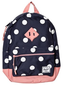 Herschel Heritage Kids Peacoat Polka Dot/Strawberry Ice Rub