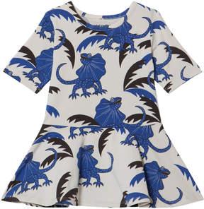 Mini Rodini Blue And White Draco Dance Dress