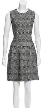 Alaia Spotted Wool-Blend Dress w/ Tags