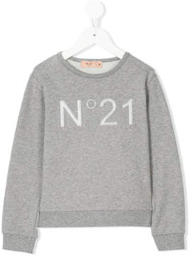 No.21 Kids logo sweatshirt