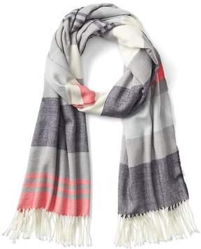 Gap Fringe stripe scarf