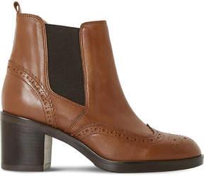 Dune Black Ladies Tan Luxury Parke Leather Heeled Chelsea Boots
