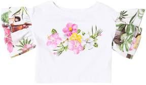 MonnaLisa Jungle Book Jersey Cropped T-Shirt