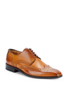 Saks Fifth Avenue Made in Italy Men's Brogued Wingtip Derby Shoes