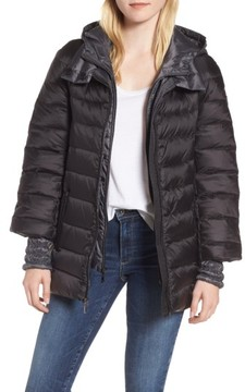 1 Madison Women's 3-In-1 Layered Packable Quilted Down Coat