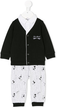 Karl Lagerfeld kitty printed romper