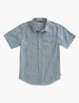Lucky Brand CHAMBRAY SHIRT WITH DOBBY
