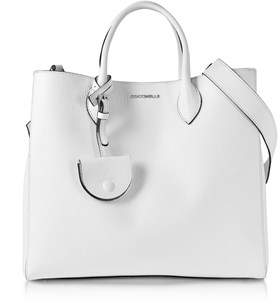 Coccinelle Women's White Leather Handbag.