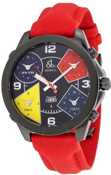 Jacob & co Jacob and Co. Five Time Zone Black Dial Men's Watch