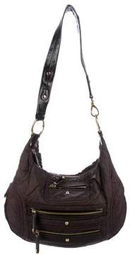 Tod's Patent Leather-Trimmed Pashmy Hobo