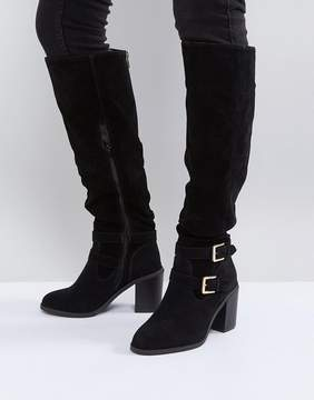 Miss KG Heeled Over The Knee Buckle Boot