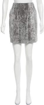 Alberto Makali Embellished Velvet Skirt