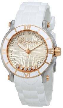 Chopard Happy Sport Silvertone Guilloche Dial Ladies Watch