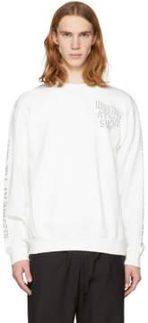 McQ Off-White Oversized Hissing At The Sun Sweatshirt