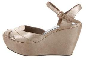 Marni Metallic Platform Sandals