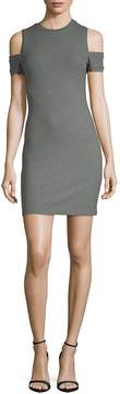 Susana Monaco Women's Kira Crewneck Cold-Shoulder Dress