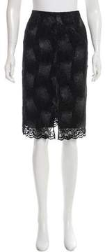 Christian Lacroix Lace Knee-Length Skirt