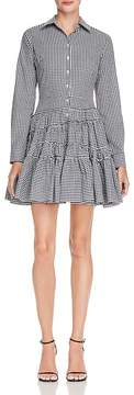 Aqua Ruffled Gingham Shirt Dress - 100% Exclusive