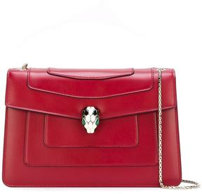 Bulgari flap closure shoulder bag