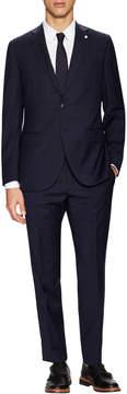 Lubiam Men's Wool Windowpane Buttoned Suit