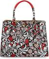 Prada Medium Debossed Floral Paradigm Tote Bag