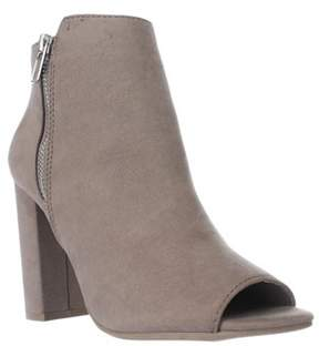 Material Girl Mg35 Carena Peep Toe Double Zip Ankle Boots-taupe.