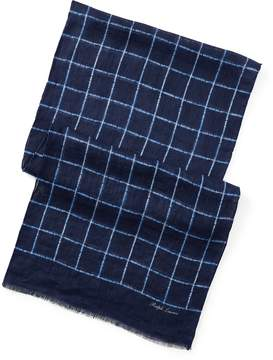 Ralph Lauren Windowpane Linen Scarf