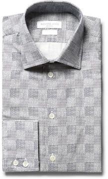Richard James Slim-Fit Cutaway-Collar Patterned Cotton Shirt