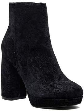 Kensie Emeline Floral Embossed Velvet Boot