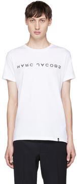 Marc Jacobs White Upside-Down Logo T-Shirt