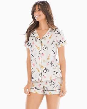 BedHead Knit Cotton-Blend Shorty Pajama Set