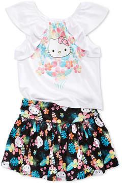 Hello Kitty 2-Pc. T-Shirt & Skirt Set, Toddler Girls