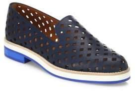 Aquatalia Zanna Perforated Leather Loafers
