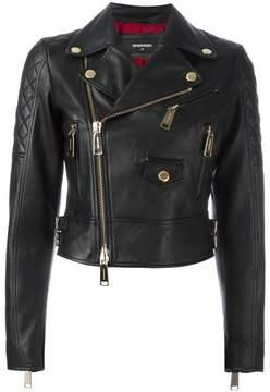 DSQUARED2 quilted detail biker jacket