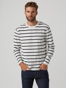 Frank and Oak Breton Longsleeve T-Shirt in Gull Heather