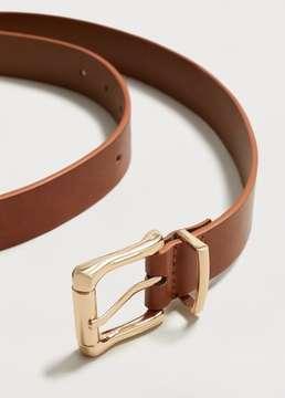 Violeta BY MANGO Metal buckle belt