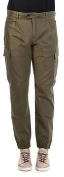 Scotch & Soda Men's Green Cotton Pants.
