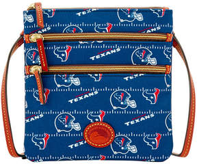 Dooney & Bourke Houston Texans Nylon Triple Zip Crossbody - NAVY - STYLE