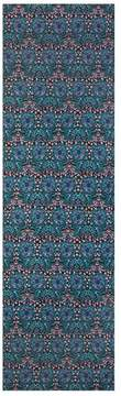 St. John | Painted Floral Motif Silk Crinkle Georgette Scarf