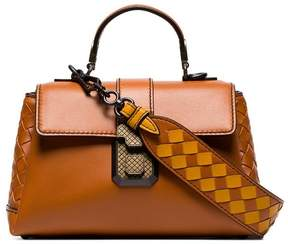 Bottega Veneta Orange Leather mini woven strap shoulder bag