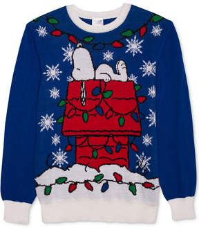 Hybrid Men's Snoopy Decorated Holiday Sweater