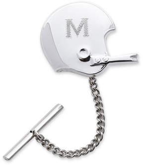 Asstd National Brand Football Helmet Rhodium-Plated Tie Tack