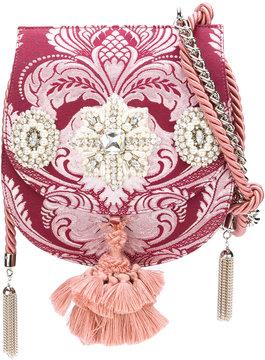 Christian Pellizzari jewel tassel jacquard flap bag