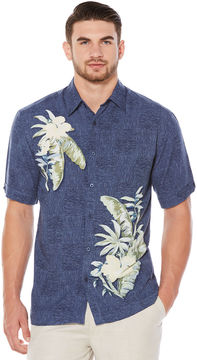 Cubavera Short Sleeve Tropical Print Shirt