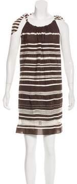 Calypso Striped Silk Dress