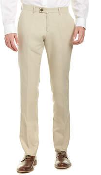 Façonnable Linen-Blend Flat Front Pant