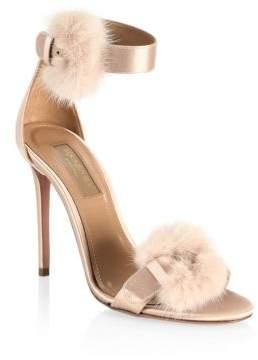 Aquazzura Sinatra Mink Fur Sandals