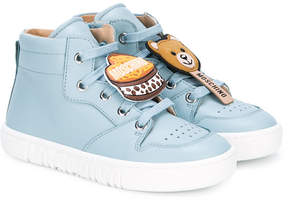 Moschino Kids patch-appliqué hi-top sneakers
